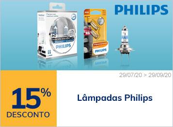 15% de desconto lâmpadas Philips