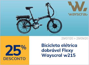 25% desconto na bicicleta elétrica dobrável Wayscral