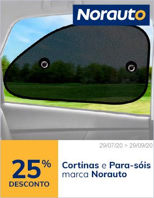 25% em cortinas e parasóis Norauto