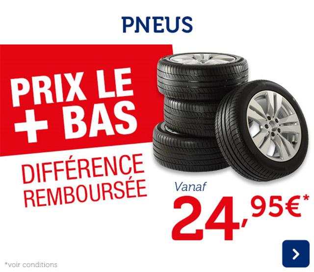 pneus prix le + bas différence remboursée