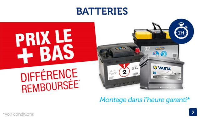 batteries prix le + bas différence remboursée