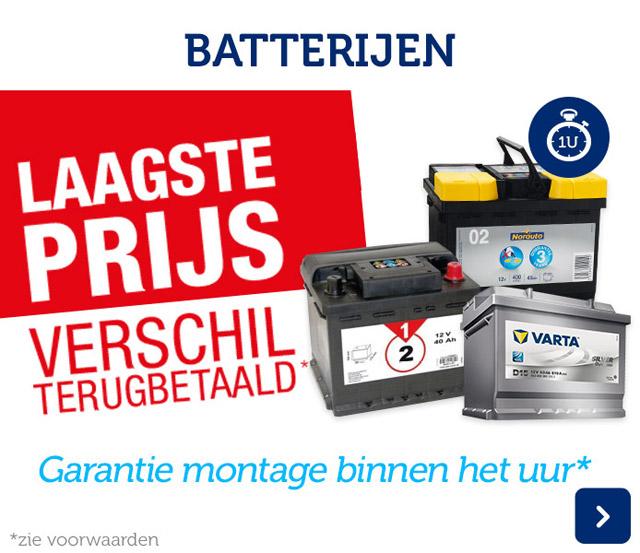 Batterijen laagste prijs verschil terugbetaald