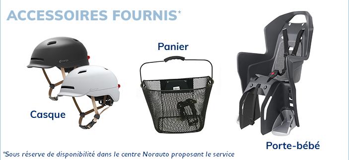 accessoires fournis casque panier porte-bébé