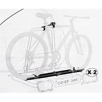 2 rails vélos THULE 948200 pour porte-vélos Easybase