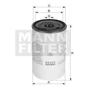 Filtre à huile MANN-FILTER LB719/2