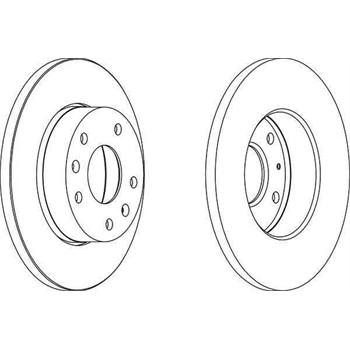 2 Disques de frein FERODO DDF1100