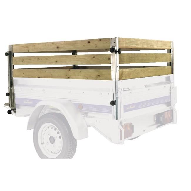 4 rehausses en bois pour remorque norauto premium 256. Black Bedroom Furniture Sets. Home Design Ideas