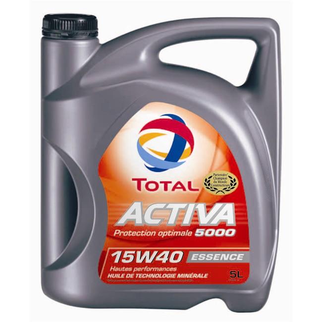 huile total activa 5000 essence 15w40 5 litres. Black Bedroom Furniture Sets. Home Design Ideas