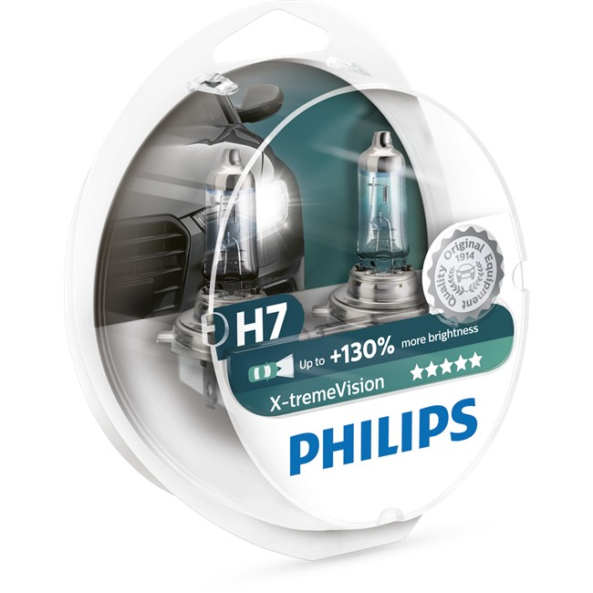 2 ampoules philips h7 x treme vision. Black Bedroom Furniture Sets. Home Design Ideas