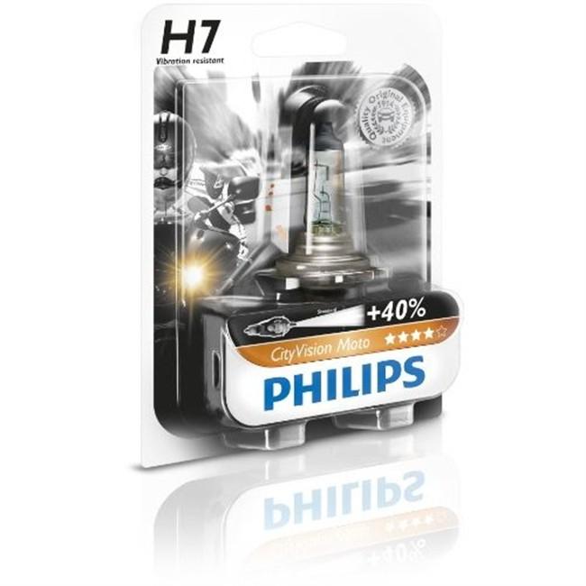 1 ampoule 2 roues philips h7 city vision. Black Bedroom Furniture Sets. Home Design Ideas