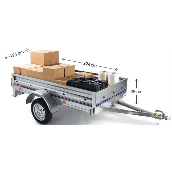 remorque 500 kg norauto nor 2300. Black Bedroom Furniture Sets. Home Design Ideas