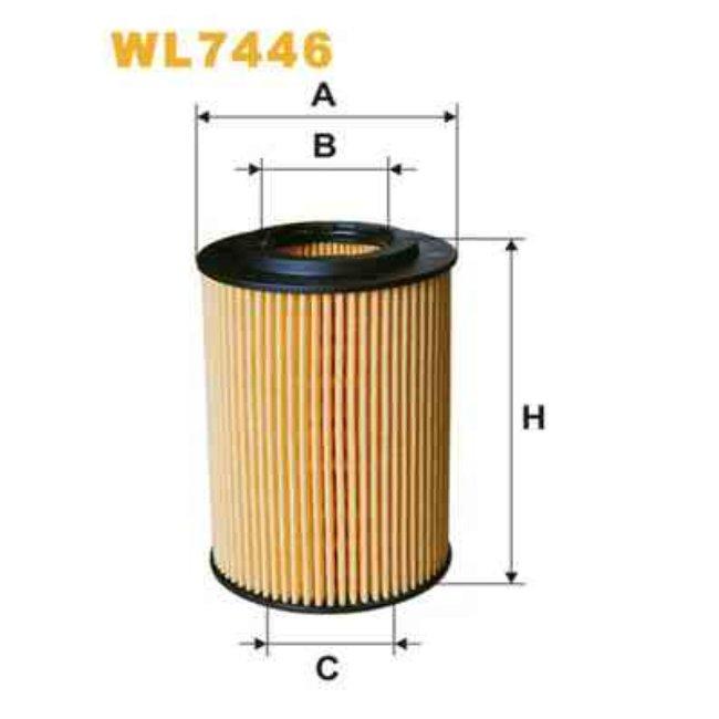 filtre huile wix r f rence wl7446. Black Bedroom Furniture Sets. Home Design Ideas