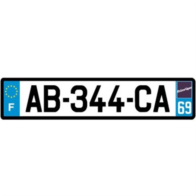 69 plaque d 39 immatriculation standard en aluminium d partement 69. Black Bedroom Furniture Sets. Home Design Ideas